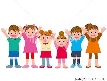 おめでとう 子供 6人 のイラスト素材 13153051 Pixta