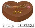 バレンタイン ハート型 バレンタインデーのイラスト 13153328
