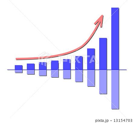 増加グラフのイラスト素材 [13154703] - PIXTA
