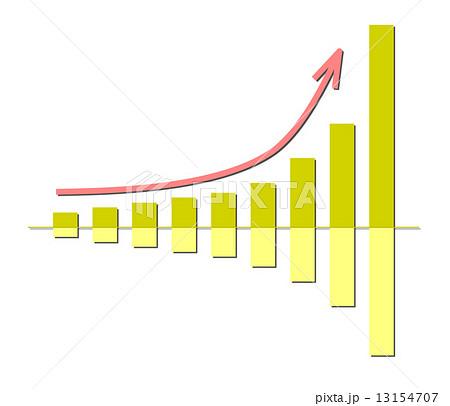 増加グラフのイラスト素材 [13154707] - PIXTA