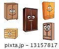 食器棚 戸棚 下駄箱のイラスト 13157817