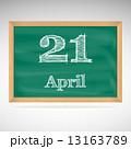黒板 ベクトル 4月のイラスト 13163789