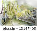 城崎温泉のスケッチ画 13167405