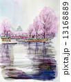 春の大阪城のスケッチ 13168889
