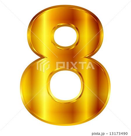 8 数字 ナンバーのイラスト素材 [13173490] - PIXTA