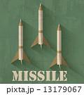 grunge missile icon background concept. Vector illustration desi 13179067