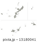 沖縄県地図 県地図 沖縄のイラスト 13180041