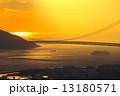 明石海峡 明石海峡大橋 夕焼けの写真 13180571