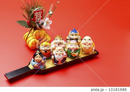 羽子板と七福神 13181986