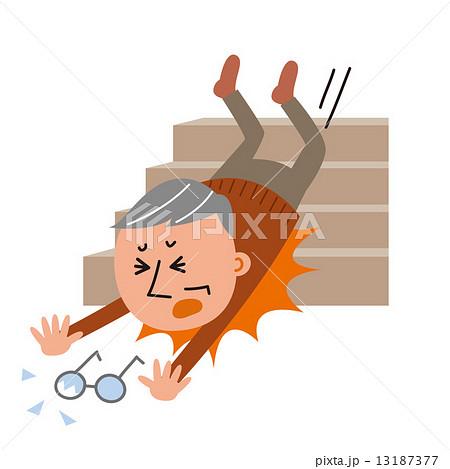 階段 転落事故 13187377