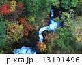 西沢渓谷 紅葉 滝の写真 13191496
