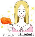 女性 チキン 笑顔 13196961