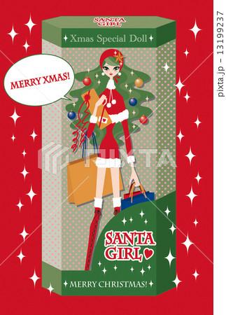 クリスマスカード サンタガール 13199237