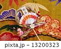 正月飾り 注連縄 年賀状素材の写真 13200323