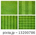 芝 サッカー 芝生の写真 13200786