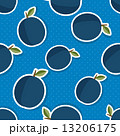 Plum pattern. Seamless texture with ripe plums 13206175
