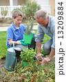 息子 植栽 植え付けの写真 13209884