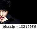 Gorgeous Young Woman in Black Winter Fashion 13210956
