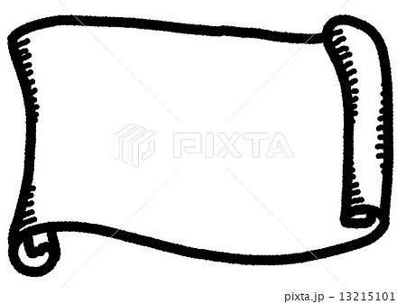 巻き物 巻物 線画 のイラスト素材 13215101 Pixta