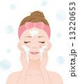 ベクター 洗顔料 泡洗顔のイラスト 13220653