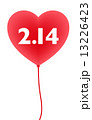 2.14 バレンタイン 赤い風船 13226423