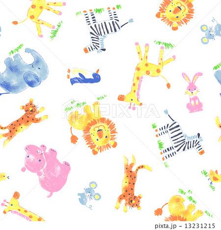 可愛い動物柄のイラスト素材 13231215 Pixta