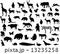 Collection of animal silhouettes. Vector illustration. One click 13235258