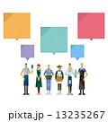 ふきだし 職業 コミュニケーションのイラスト 13235267