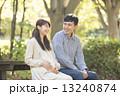 夫婦 家族 妊婦の写真 13240874