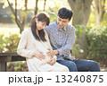 夫婦 家族 妊婦の写真 13240875