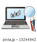 チャート パソコン ノートパソコンのイラスト 13244942