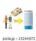 旅行者 紙幣 人物のイラスト 13244972