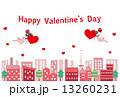 バレンタインデーイメージ(ハート,薔薇,鳥) 13260231