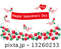 バレンタインデーイメージ(薔薇,鳥) 13260233
