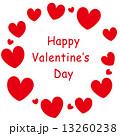 バレンタイン素材-ハートのフレーム 13260238