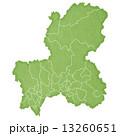 岐阜県地図 県地図 岐阜のイラスト 13260651