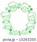 三世代 一家 円のイラスト 13263205