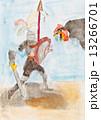 巨人 巨大 ニワトリのイラスト 13266701