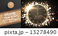 Composite image of clock counting down to midnight 13278490