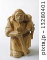 木彫り 毘沙門天 置物の写真 13280401