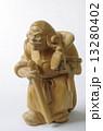 木彫り 毘沙門天 置物の写真 13280402