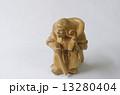 木彫り 毘沙門天 置物の写真 13280404