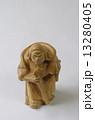 置物 毘沙門天 木彫りの写真 13280405