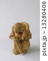 木彫り 毘沙門天 置物の写真 13280406