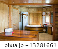 Standard tropical interior of the bathroom finished with natural materials.. 13281661