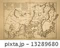 世界地図 古地図 地図の写真 13289680