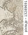 世界地図 古地図 地図の写真 13289691