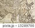 世界地図 古地図 アジアの写真 13289700
