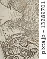 世界地図 古地図 地図の写真 13289701