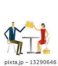 デート レストラン カップル ビール 13290646